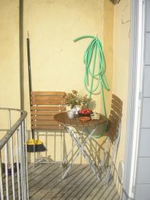 anche un piccolo balcone può diventare unangolo accogliente